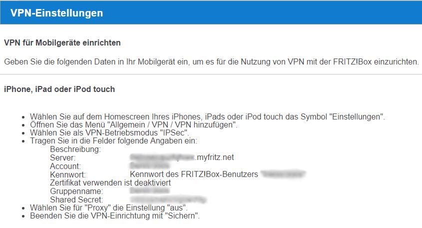 04 - VPN Einstellungen